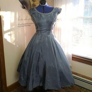 Vintage 1940s 1950s chiffon dress